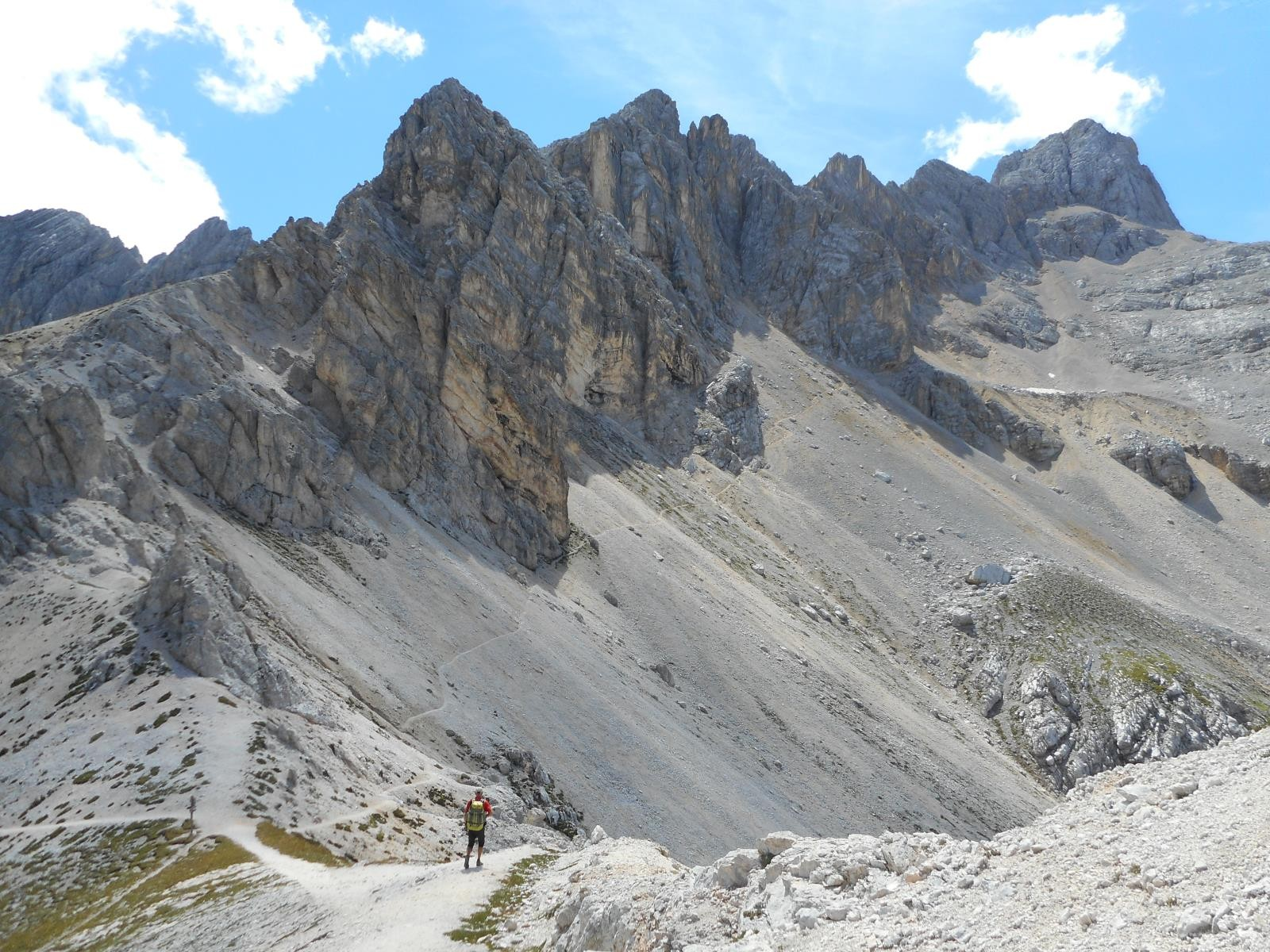 Gruppo del Sorapis, direction la Punta Negra (2847m)