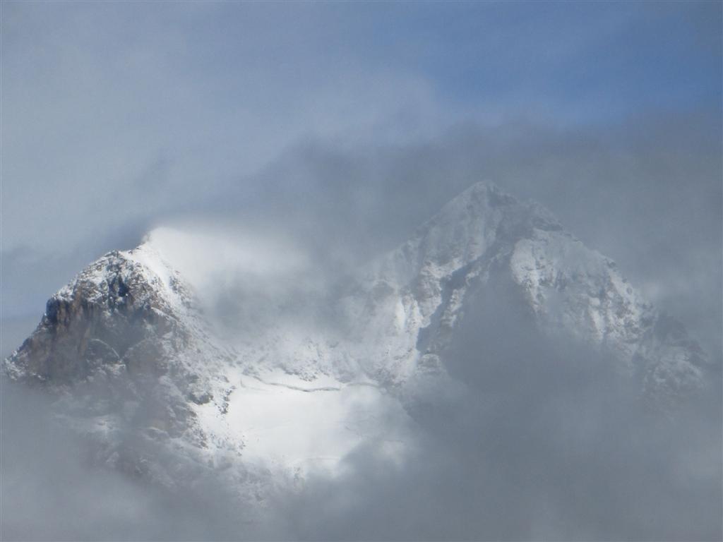 Aperçu du massif de la Bernina (4049m)