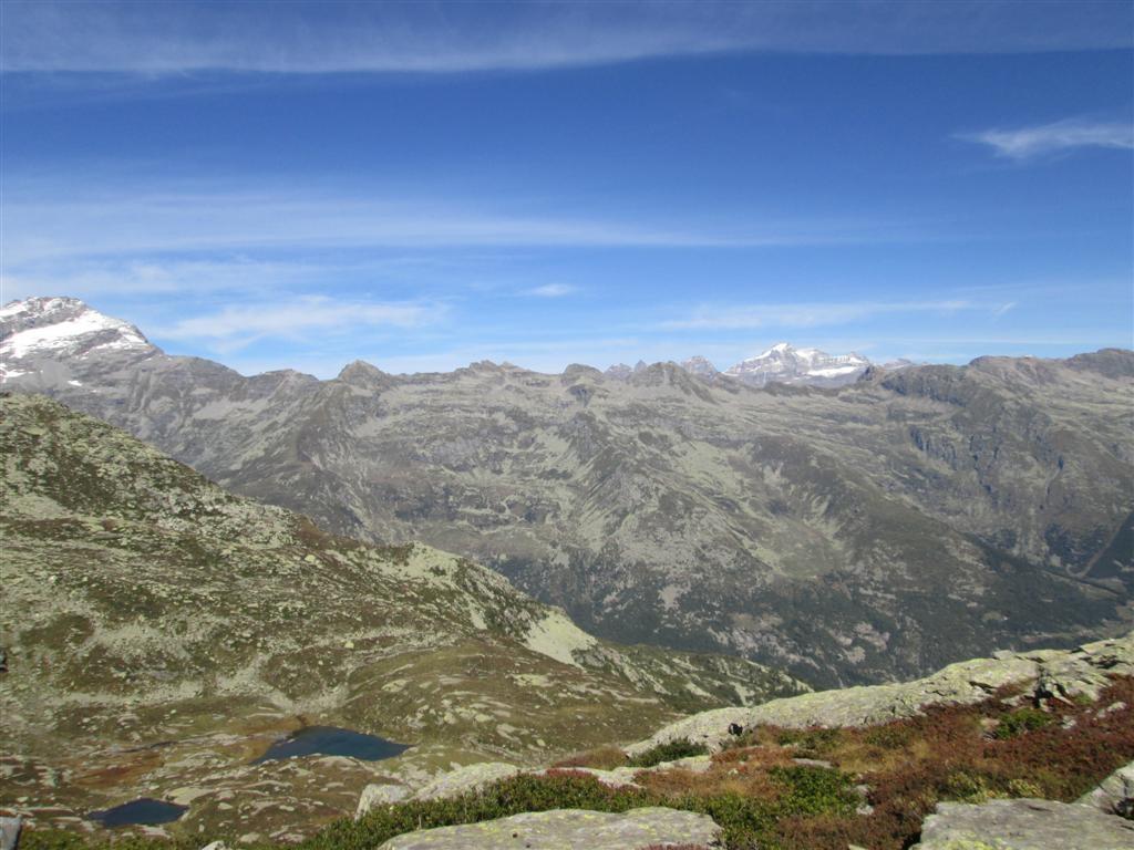 Colle di Trione (2485m) : lagi di Trione, Colle Crocetta et Gran Paradis