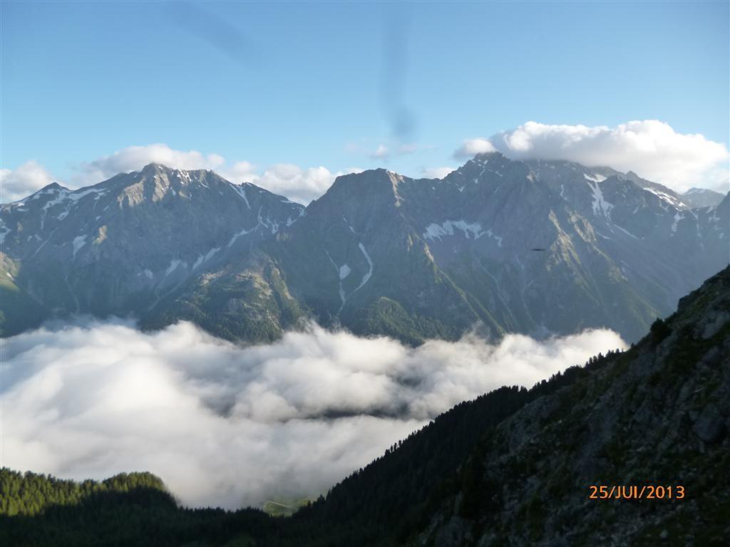 Vue sur les Dolomites depuis le Grubischarte