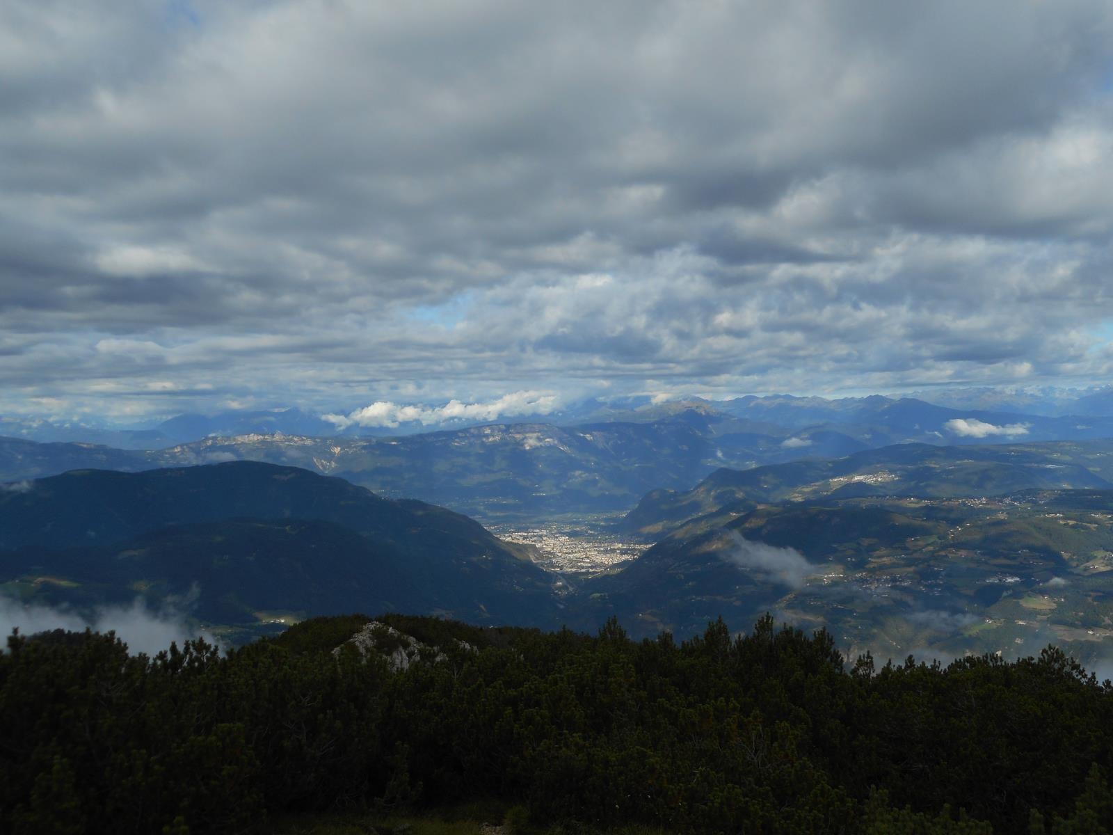 Bolzano, en fond de vallée