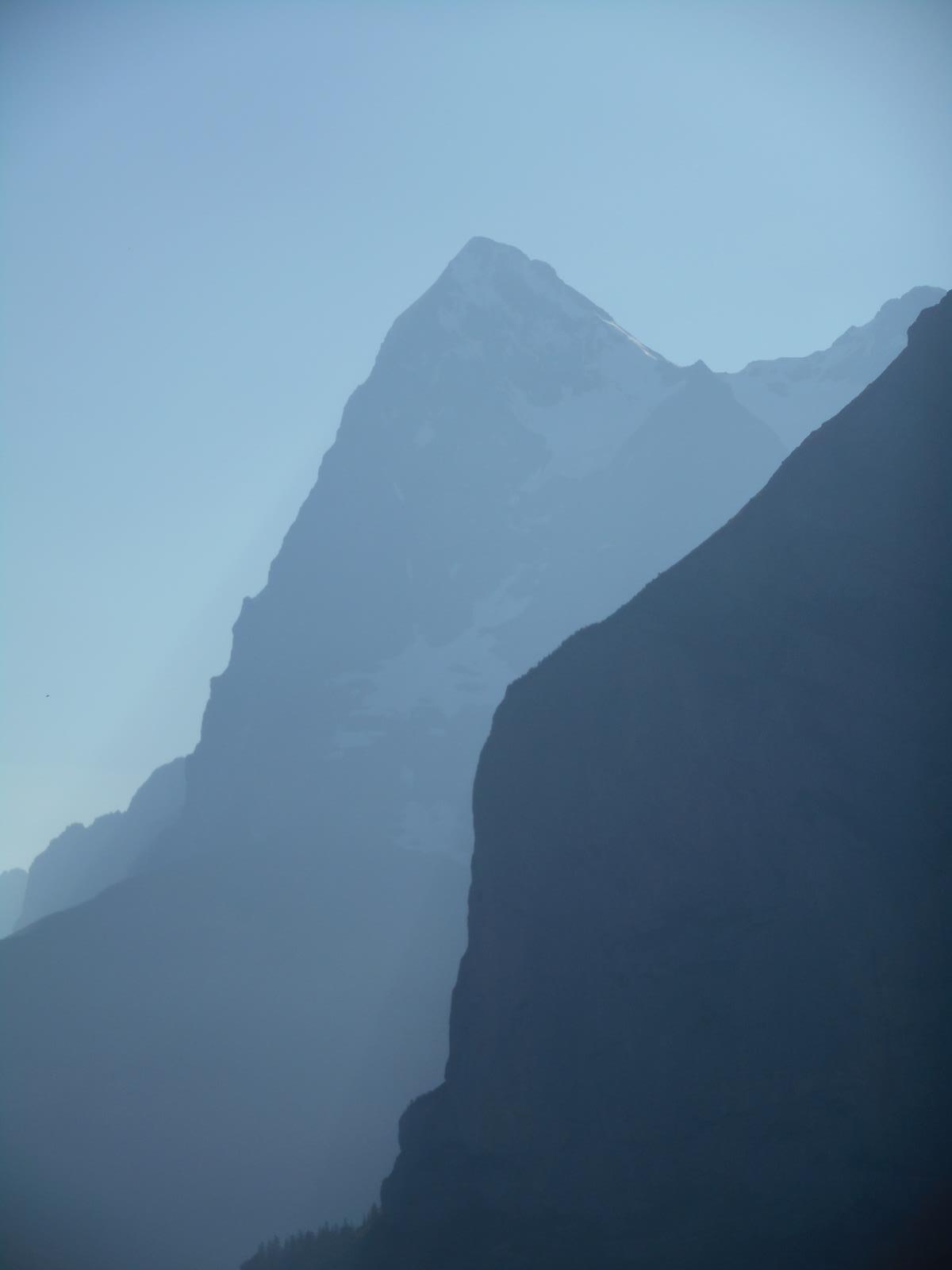 La paroi mythique de la face nord de l'Eiger