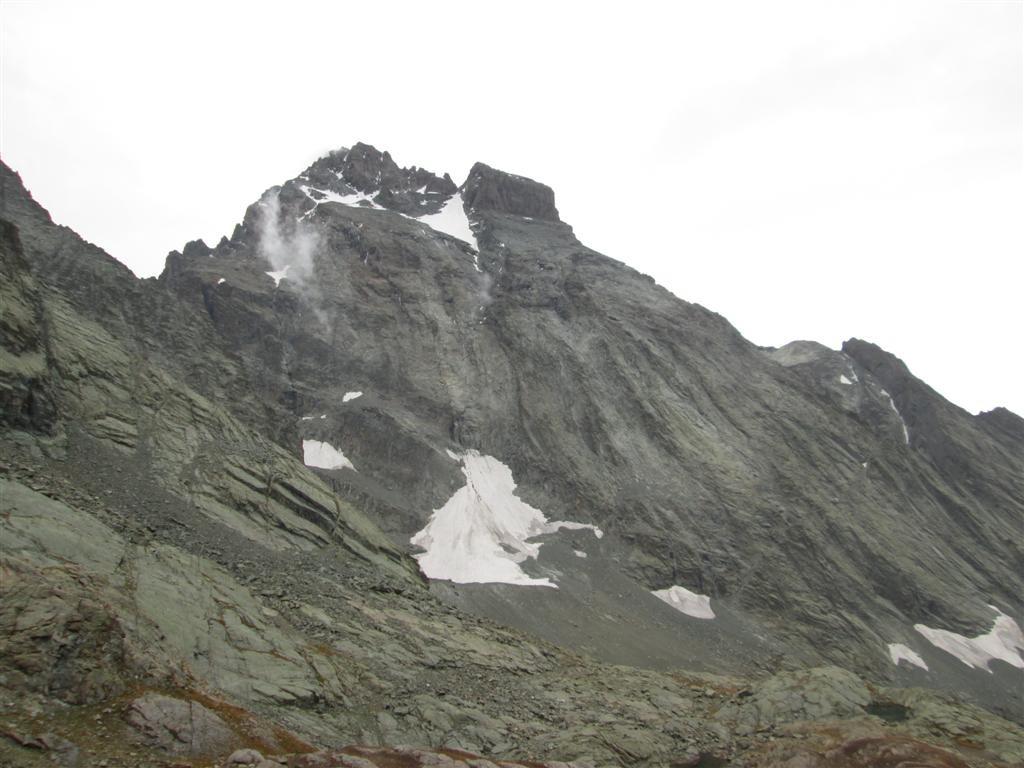Le Viso, de plus près, depuis le passo di Vallenta (2811m)