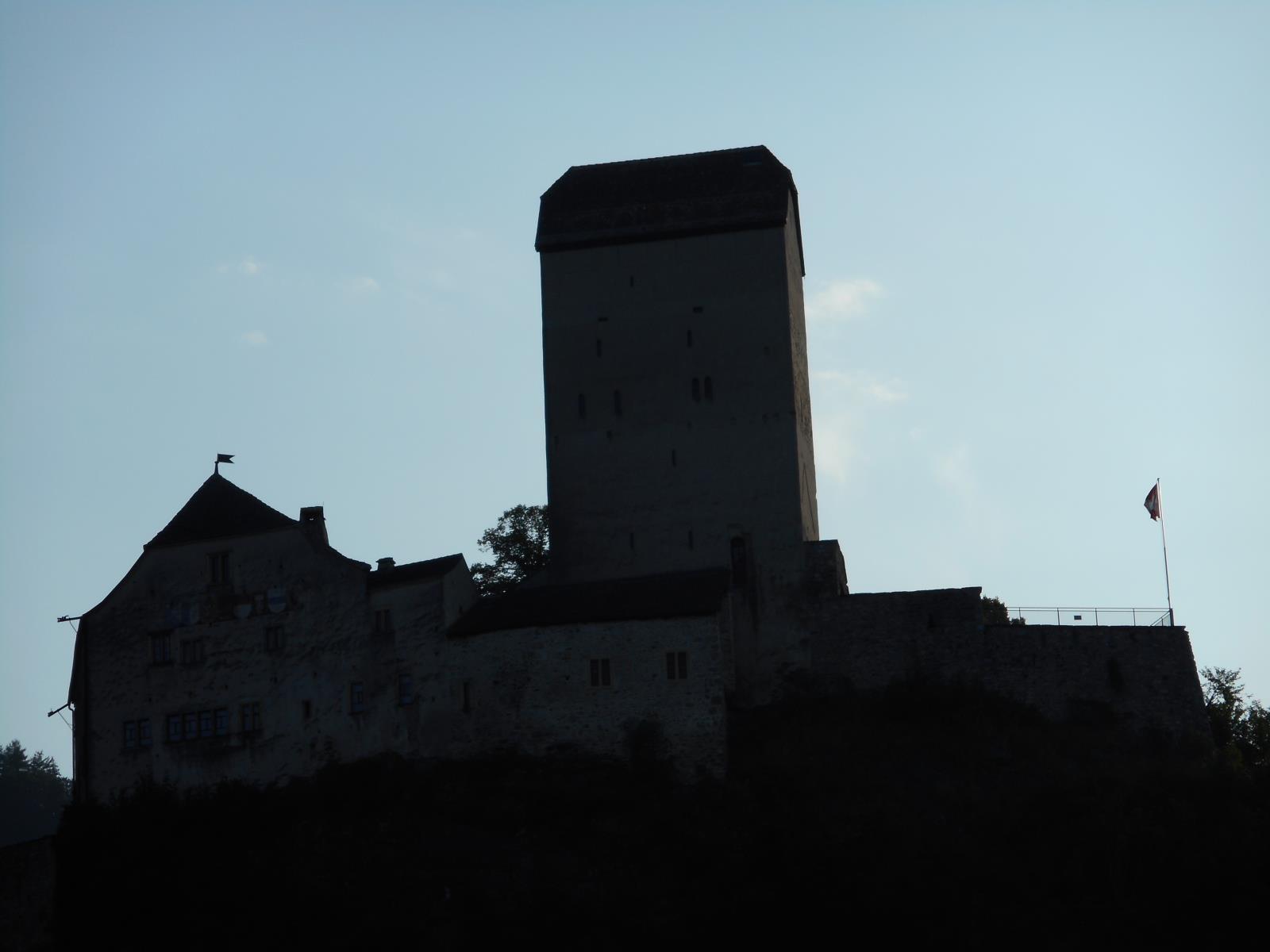 Château de Sargans, fin du tracé vert.