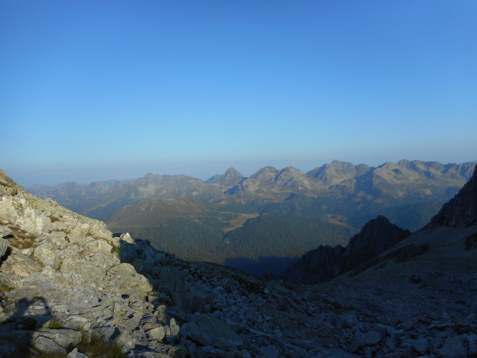 Vue matinale sur le Panevaggio depuis le massif d'Asta