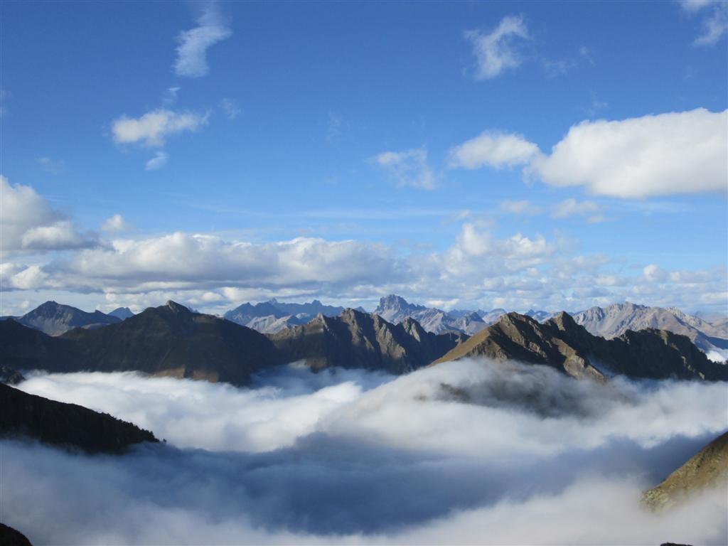 Plein nord, la haute Ubaye depuis le passo di Rostagno