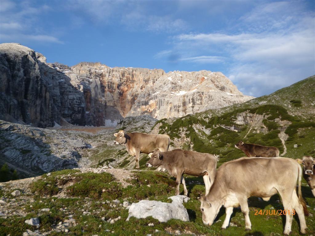 Lever de soleil sur le monte Croda Rossa