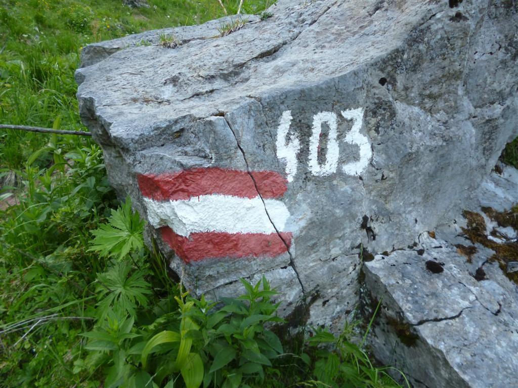 Le sentier 403, suivi jusqu'à Sesto