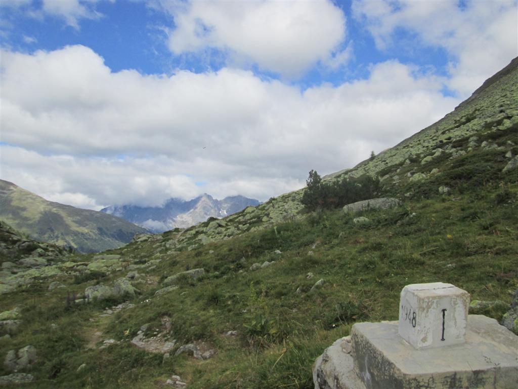 La Cruscheta (2296m) frontière italo-suisse.