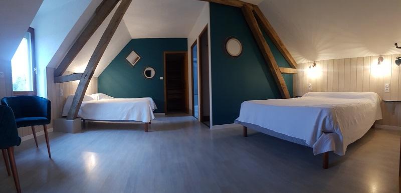 Le Champ du Pré - Chambres d'hôtes entre Sologne et Val de Loire - Week-ends et vacances en amoureux ou en famille - chambre familiale