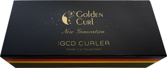 """Golden Curl New Generation"" Lockenstab Verpackung"