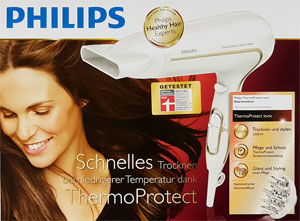 Philips Föhn ThermoProtect Verpackung
