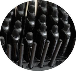 Glättungsbürste Efalock keramikbeschichtete Borsten mit Schutzgummierung