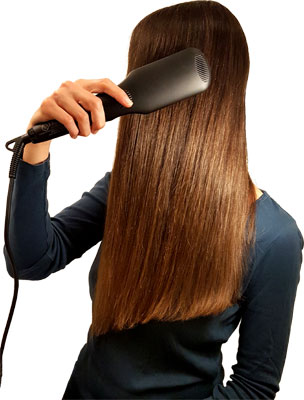 Glättbürste lange Haare