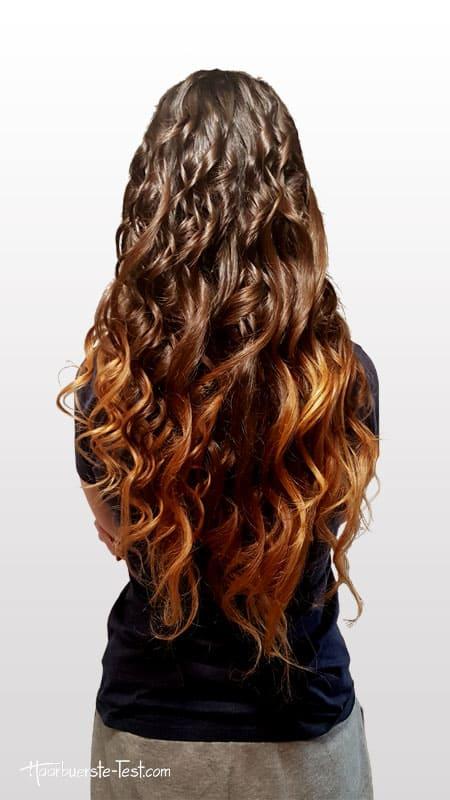Locken mit Curler sehr lange Haare