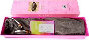 Acevivi Haarglätter in der Verpackung mit samtener Aufbewahrungstasche
