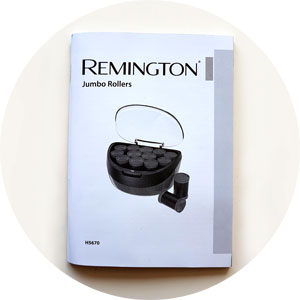 Remington Jumbo Lockenwickler Bedienungsanleitung