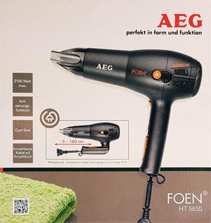 Haartrockner AEG HT5650 Verpackung