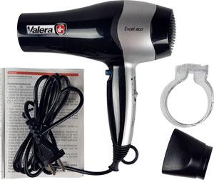 Verpackungsinhalt: Haarfön Valera 1800, Stylingdüse, Halterung Fön und Gebrauchsanleitung