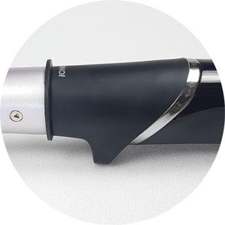 kegelförmiger Lockenstab ohne Luft, Standfuß Philips Lockenstab