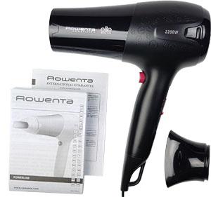 Verpackungsinhalt: Haartrockner Rowenta mit Konzentrator und Gebrauchsanleitung
