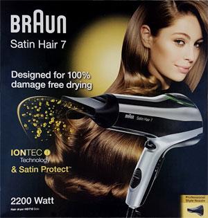Verpackung des Braun Satin Hair 7 HD710 Haartrockners