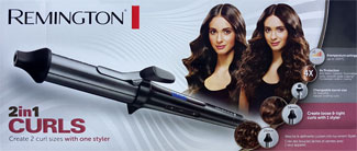 "Verpackung ""Remington 2in1 Curls"""