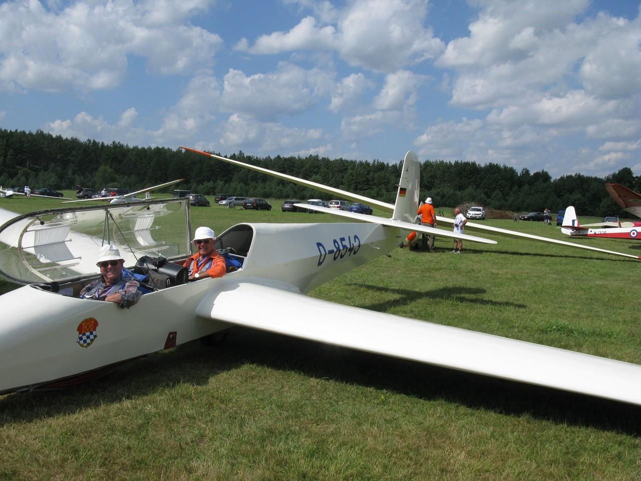 Kranich Crew, Fritz Bauer (v.) und Josef Auer. Foto: Auer
