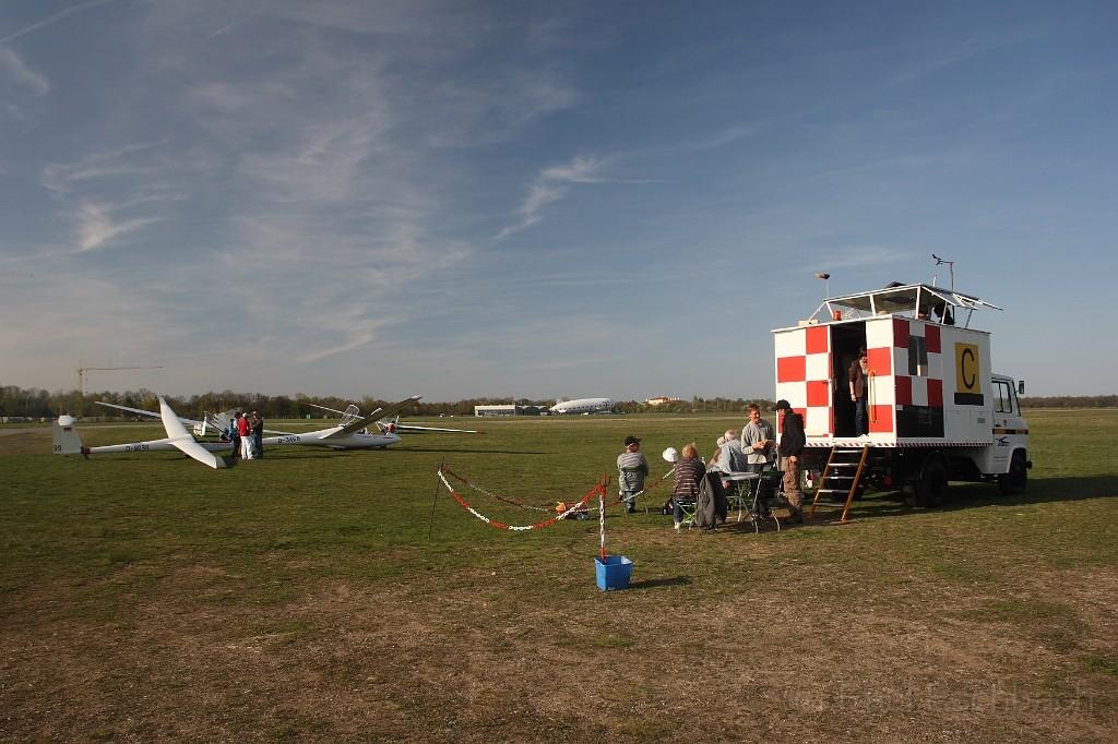 Startplatz für Windenstart mit dem Startwagen