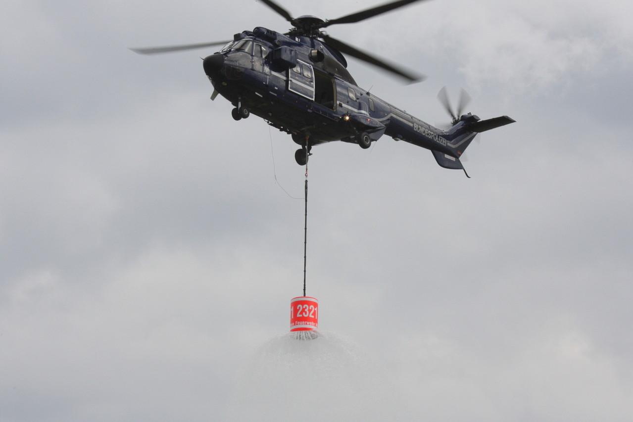 Bundespolizei Feuerlöschdarstellung. Foto: PE