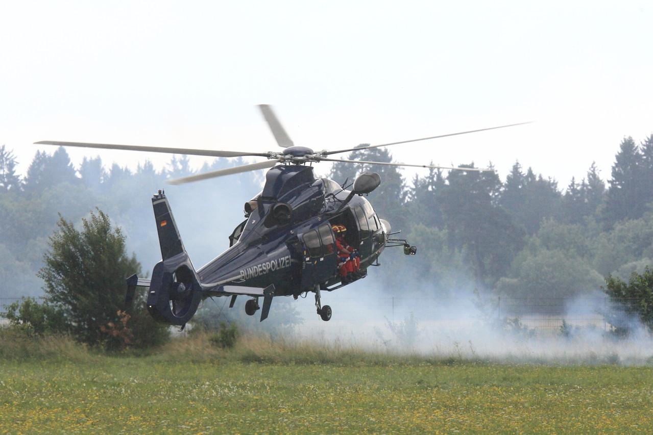 Bundespolizei Einsatzdarstellung. Foto: PE