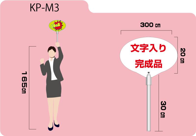 小型プラカード手持ち 文字入り 3500円