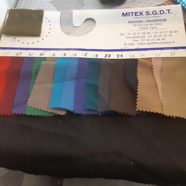 voile polyester coton pour doublure de poche