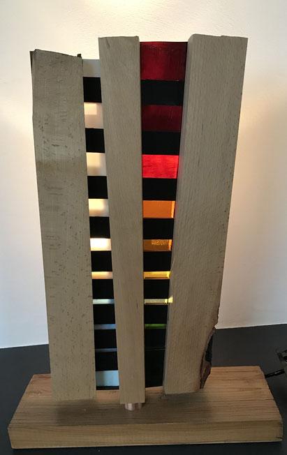 Lichtobjekt 2018, Buche 38x53cm