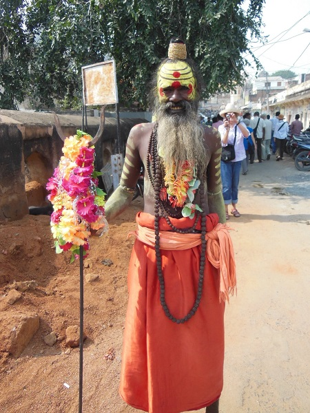 2013 A Holy Man at a Festival in the Indian city of Orcha