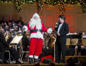 Santa Laughs it up with Keith Lockhart
