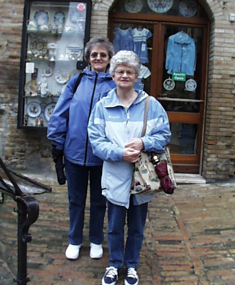 2005 Esther and Betty get Ready to Shop in the Hill Town of Assisi