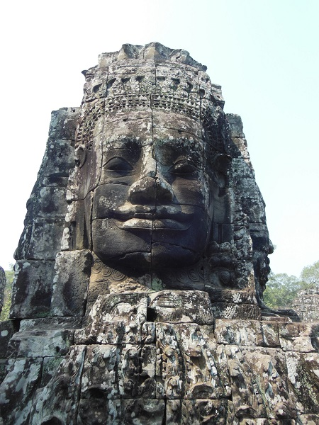 2015 One of the enigmatic Carved Stone Faces in the towers of Bayon Temple