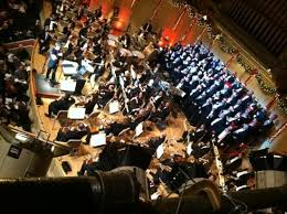 A birds-eye view of the Boston Pops Orchestra