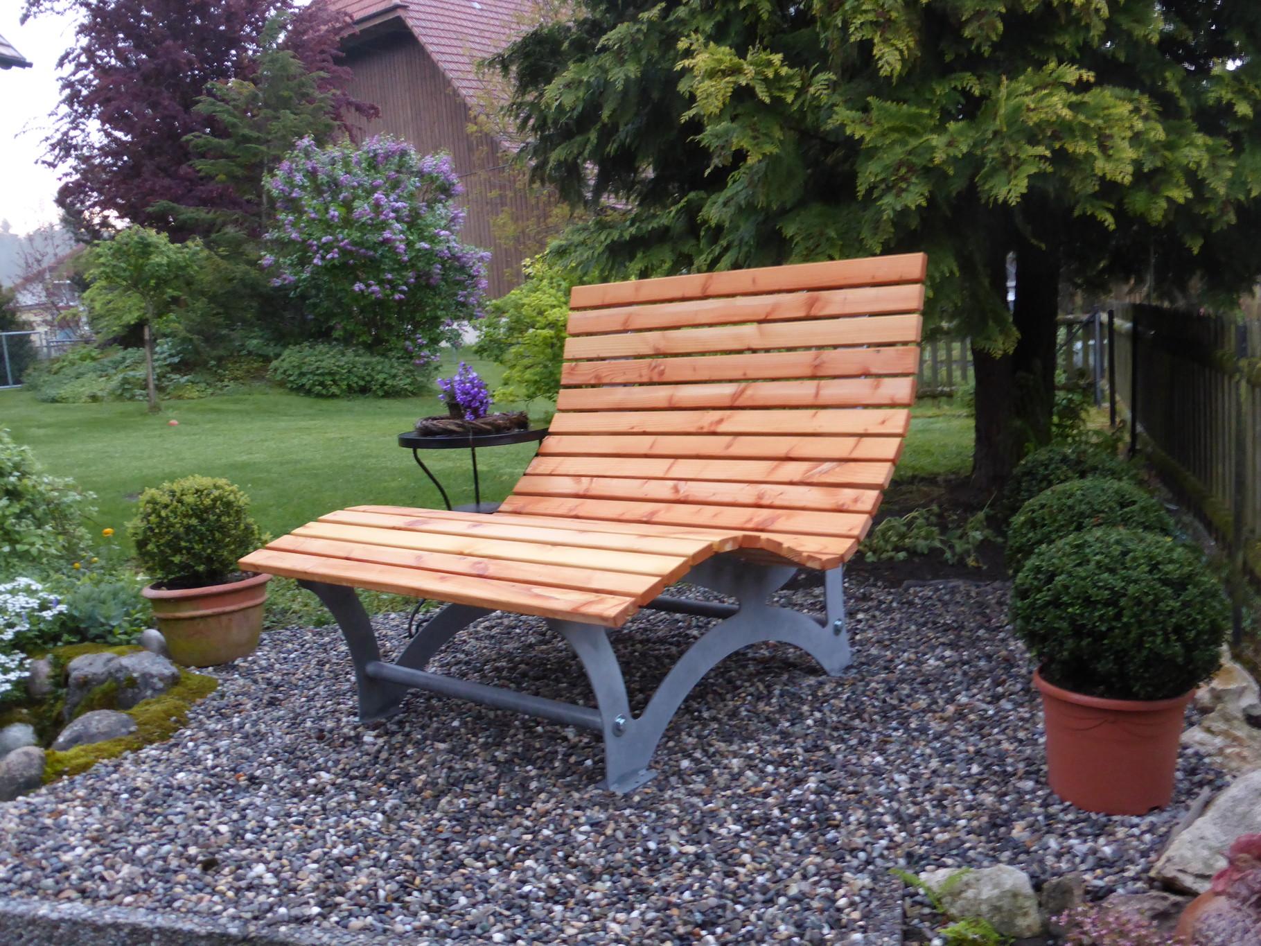 Liegebank Holz. Stunning Bank Gartenbank Liam Cm Sitzer Sitzbank ...