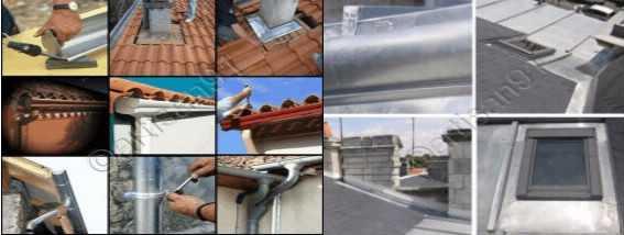 Travaux zinc de toit