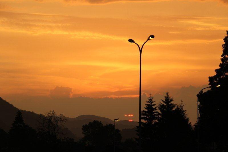 Auch bei Regen schöne Sonnenuntergänge