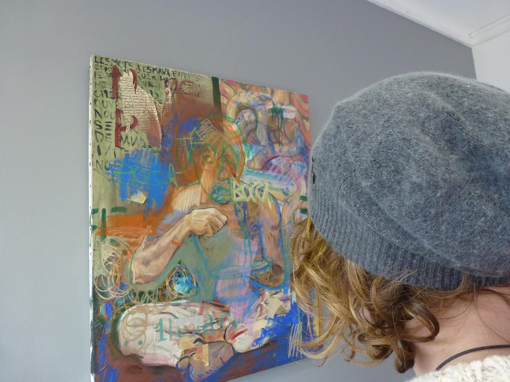 Baptiste Vanweydeveldt, MAngEr/pArlEr, Acrylique 2005