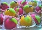 fruits en pâte d'amandes