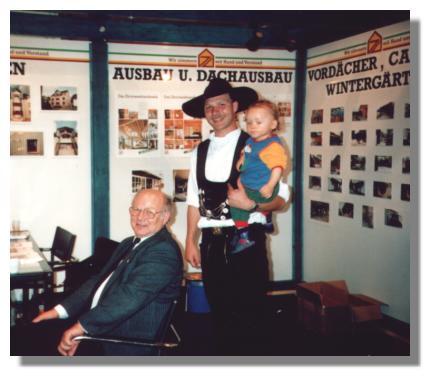 Großvater und Gründer Paul Zimmermann mit Sohn Stefan und Enkelin Stefanie.