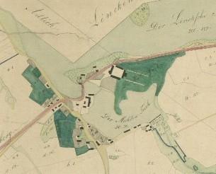 Waldau Вальдау план деревни 1820 г