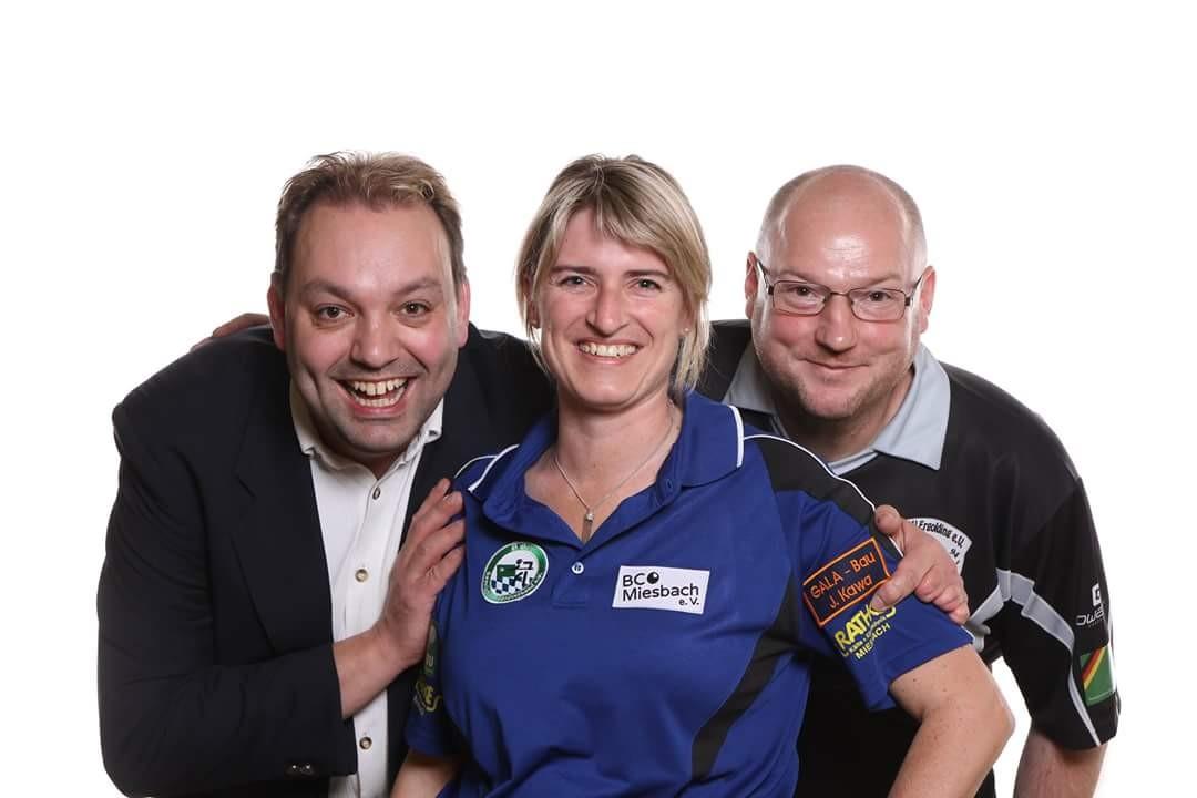 Landessportwart Daniel Bayer mit den Teilnehmern Sigrid Glatz und Harald Holzner