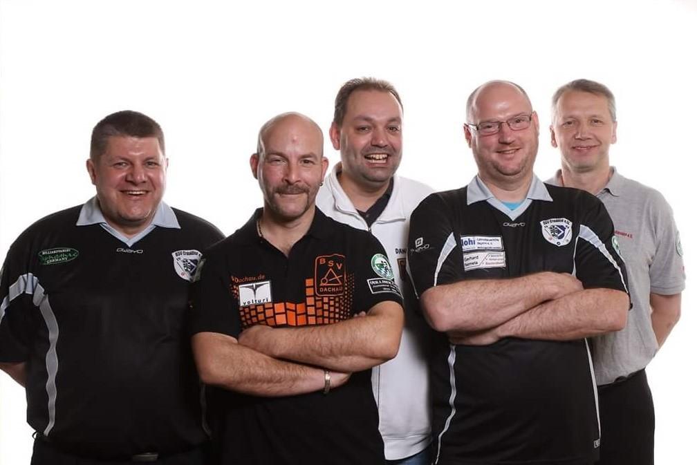 Teilnehmer bei den Senioren vom Bayerischen Billardverband