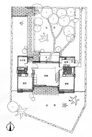 前川自邸平面図