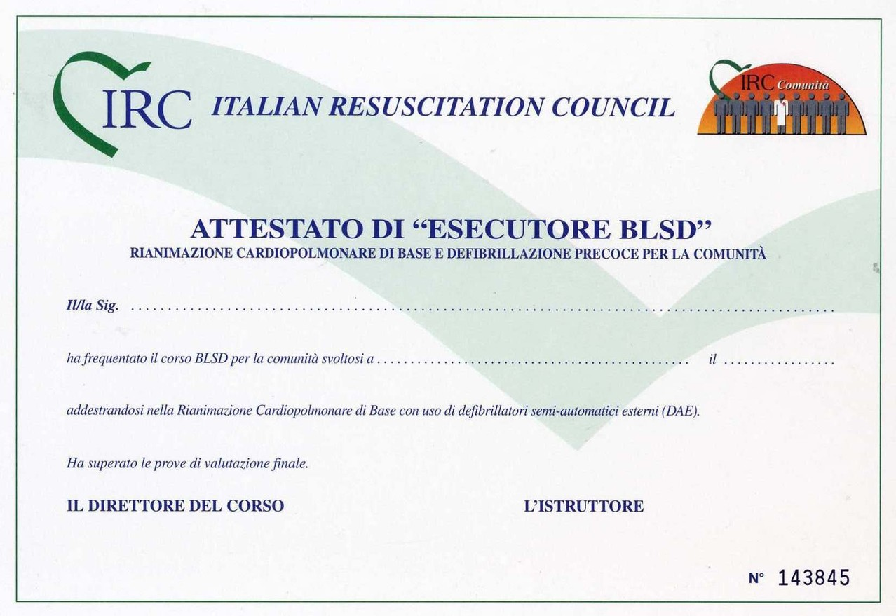 attestato irc